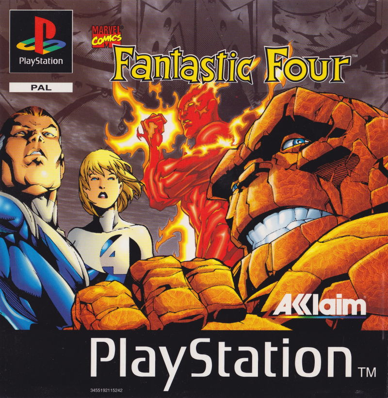 The Fantastic Four PlayStation Front Cover