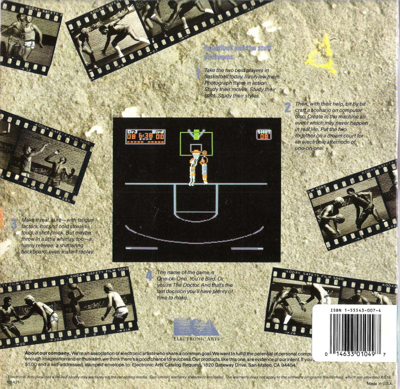 One-on-One (1984) PC Booter box cover art - MobyGames