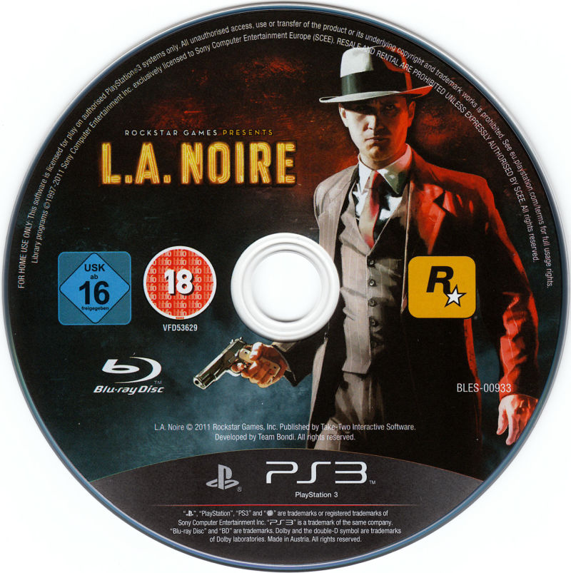 L.A. Noire PlayStation 3 Media