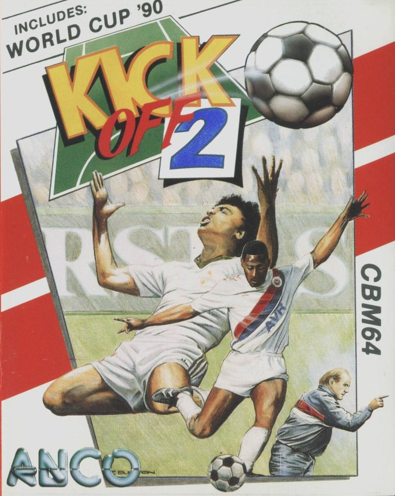 Kick Off 2 Commodore 64 Front Cover