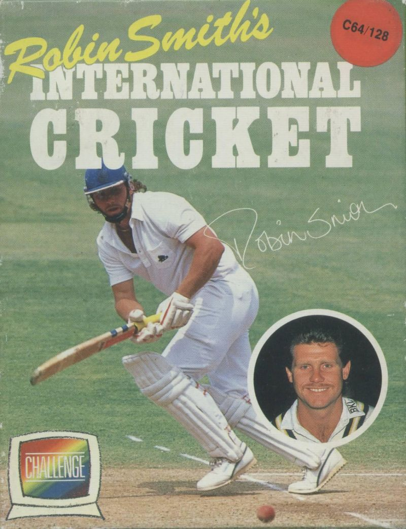 Robin Smith's International Cricket Commodore 64 Front Cover
