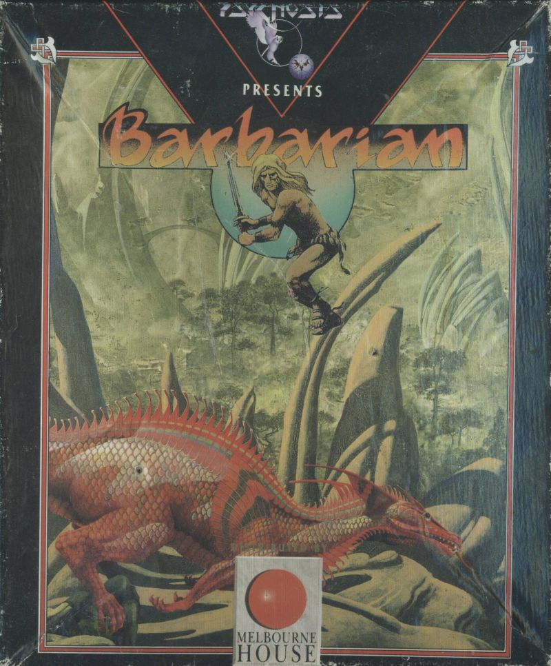 Barbarian Commodore 64 Front Cover