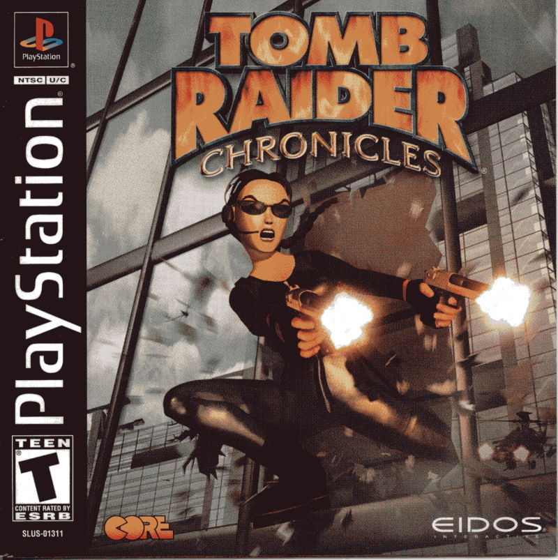Tomb Raider: Chronicles (2000) PlayStation box cover art ...