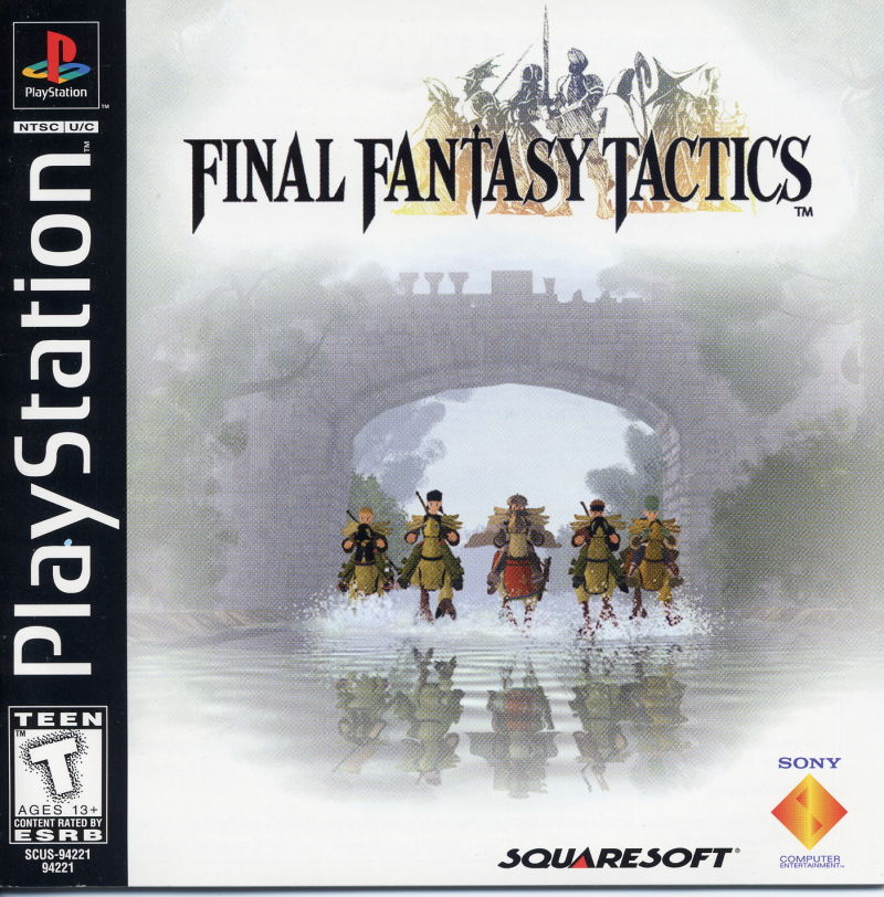 Final Fantasy Tactics PlayStation Front Cover