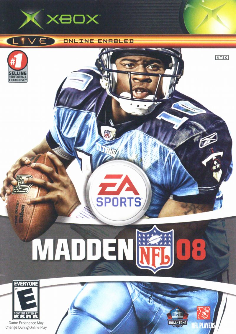 Madden NFL 08 Xbox Front Cover
