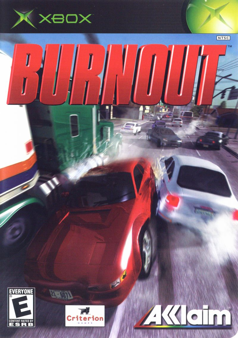 Burnout Xbox Front Cover