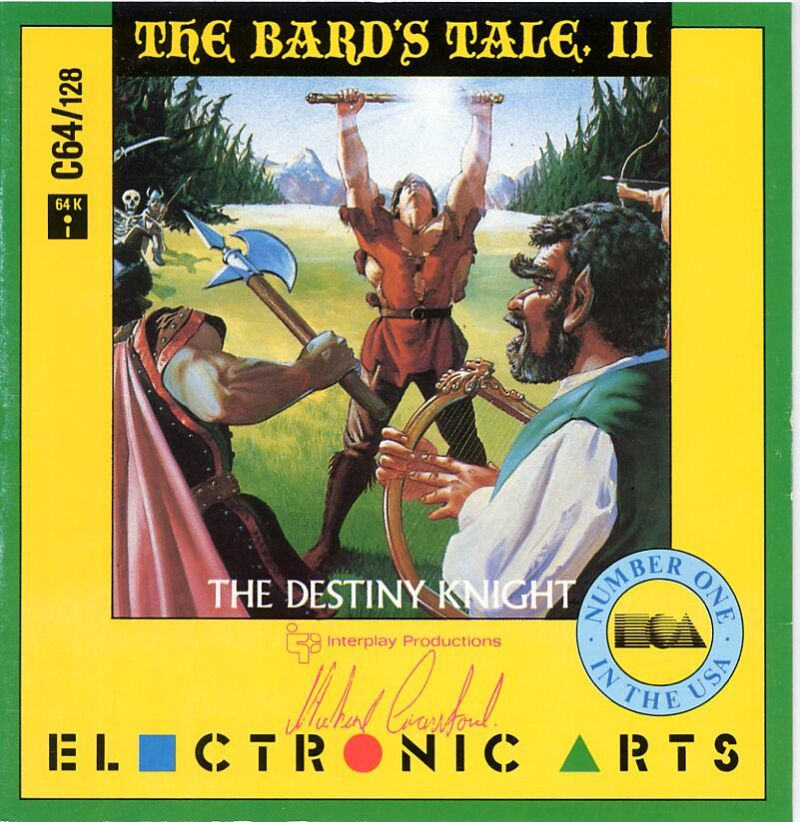 The Bard's Tale II: The Destiny Knight Commodore 64 Front Cover