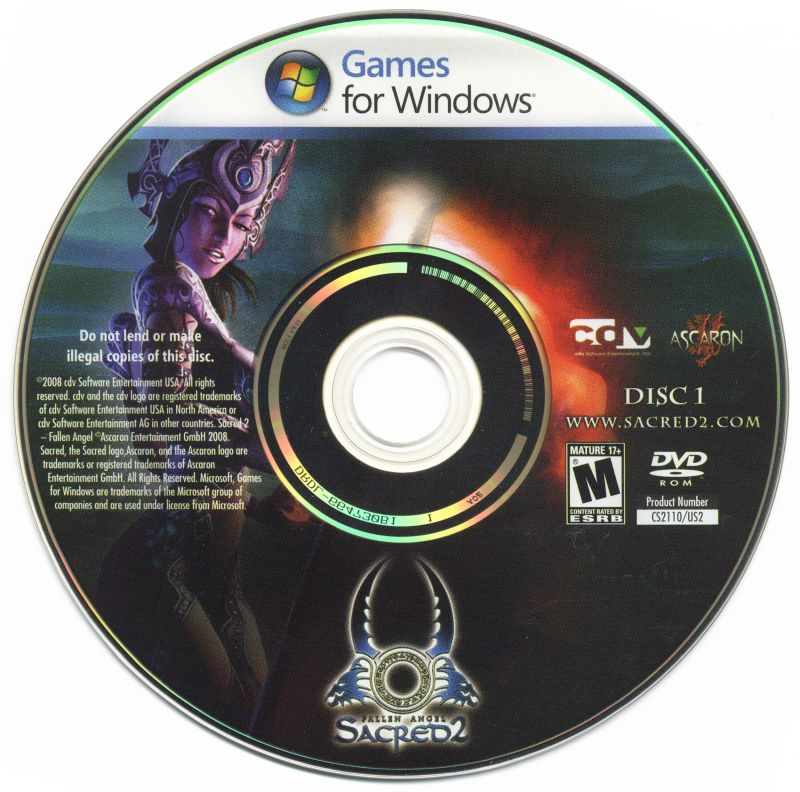Sacred 2: Fallen Angel Windows Media Disc 1