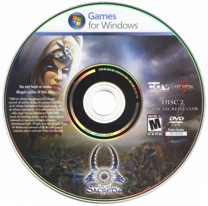 Sacred 2: Fallen Angel Windows Media Disc 2