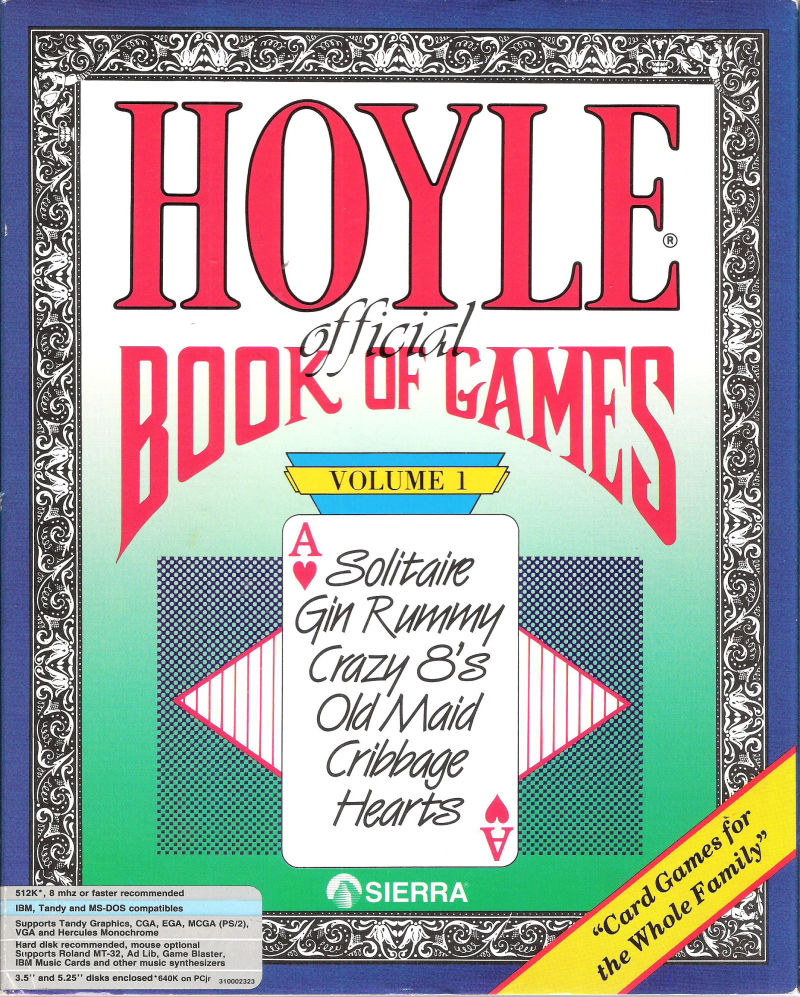 Hoyle: Official Book of Games - Volume 1 DOS Front Cover