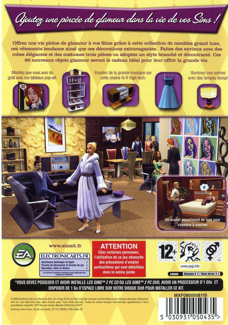 The Sims 2 Glamour Life Stuff Covers