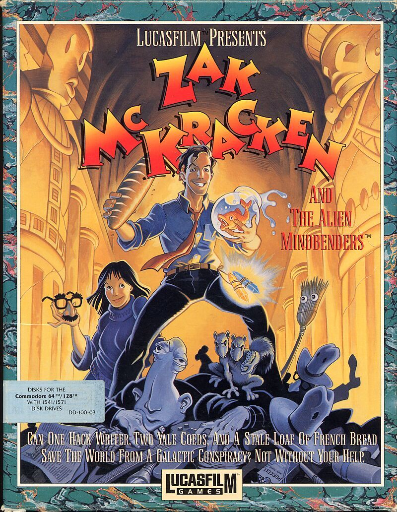 Zak McKracken and the Alien Mindbenders Commodore 64 Front Cover