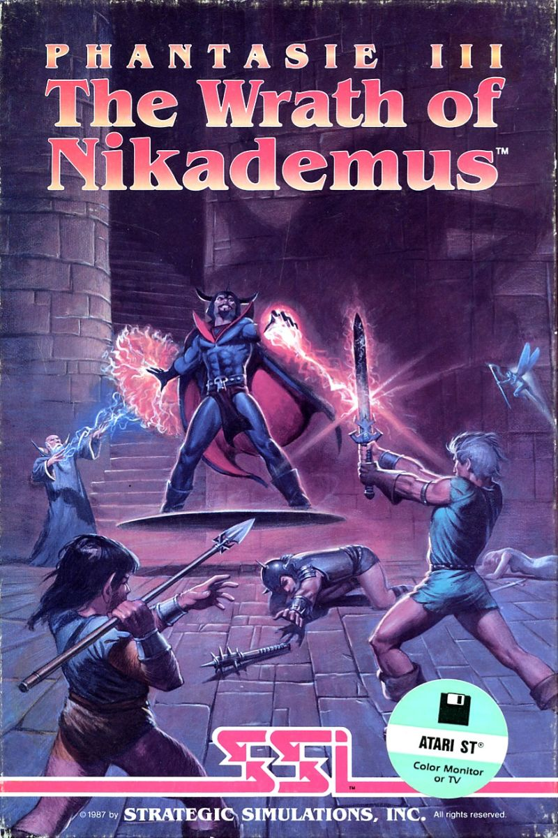 Phantasie III: The Wrath of Nikademus Atari ST Front Cover