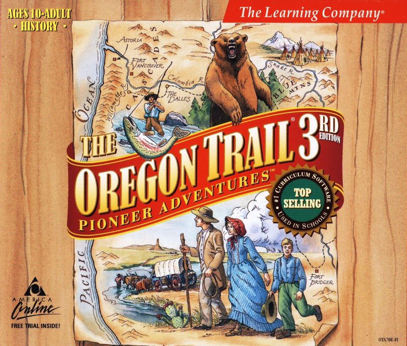 The Oregon Trail: 3rd Edition Macintosh Other Jewel Case - Front