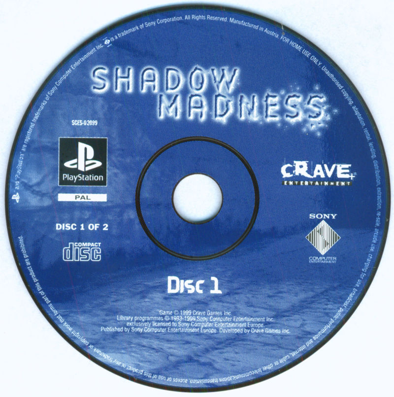 Shadow Madness PlayStation Media Disc 1/2