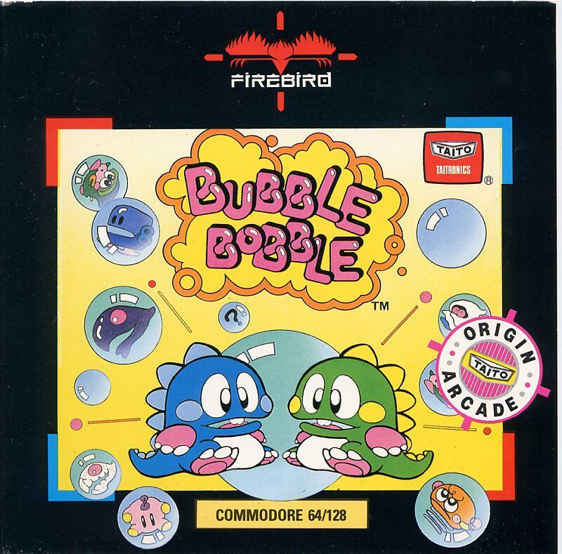 Bubble Bobble Commodore 64 Front Cover