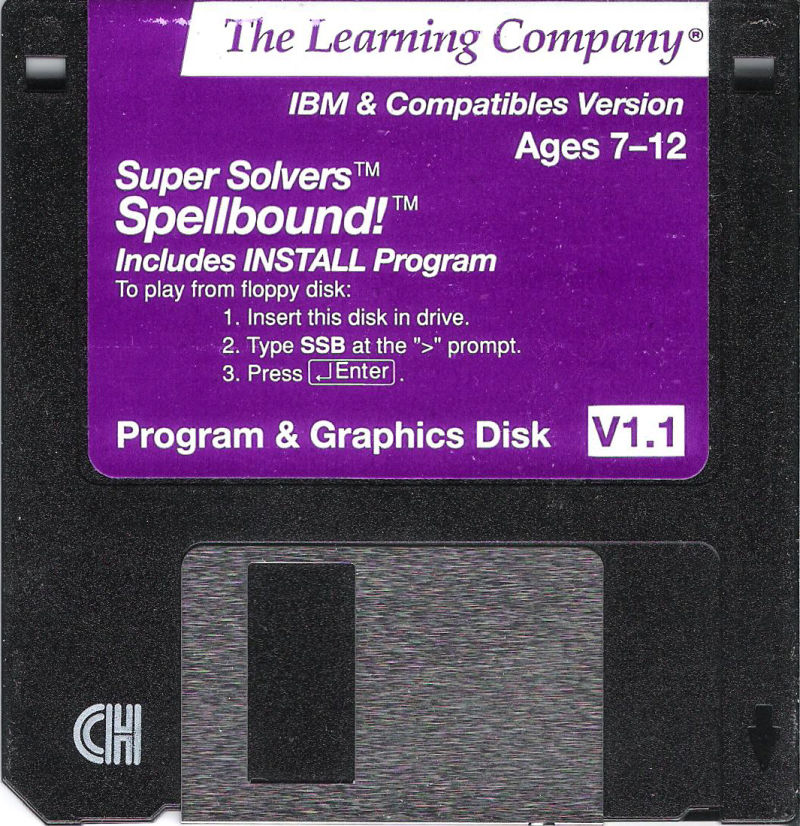 Super Solvers: Spellbound! DOS Media Program & Graphic Disk