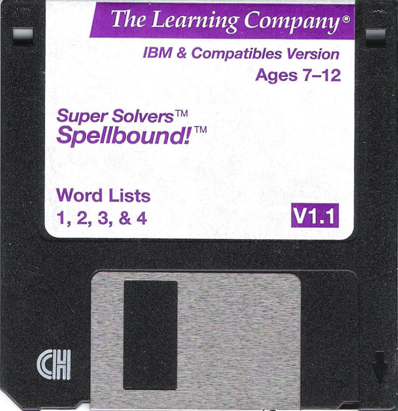 Super Solvers: Spellbound! DOS Media Word Lists 1,2,3 & 4