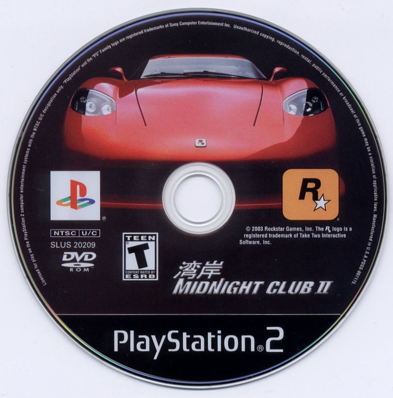 Midnight Club II PlayStation 2 Media