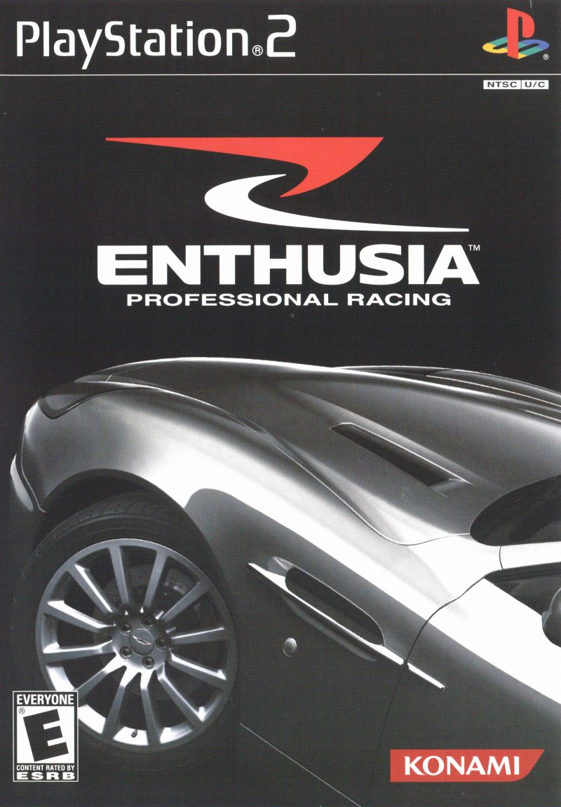 Enthusia: Professional Racing PlayStation 2 Front Cover
