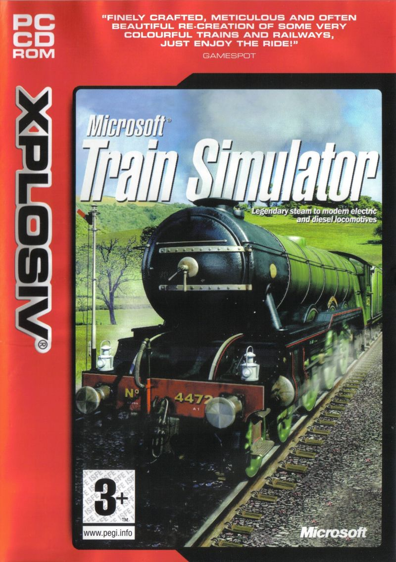 Microsoft Train Simulator Windows Front Cover