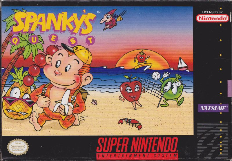 Spanky's Quest SNES Front Cover