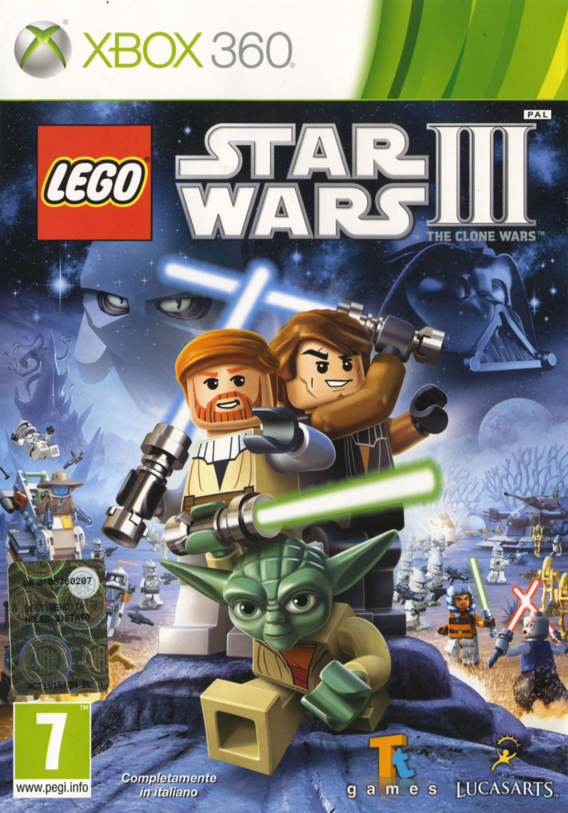 LEGO Star Wars III: The Clone Wars Xbox 360 Front Cover