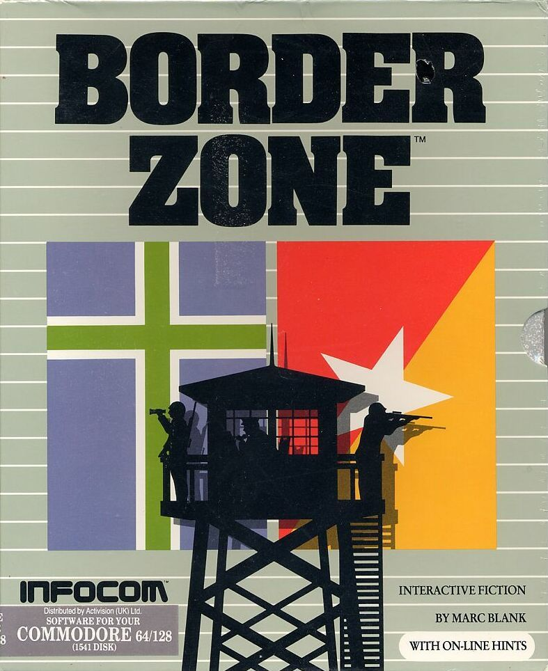 Border Zone Commodore 64 Front Cover