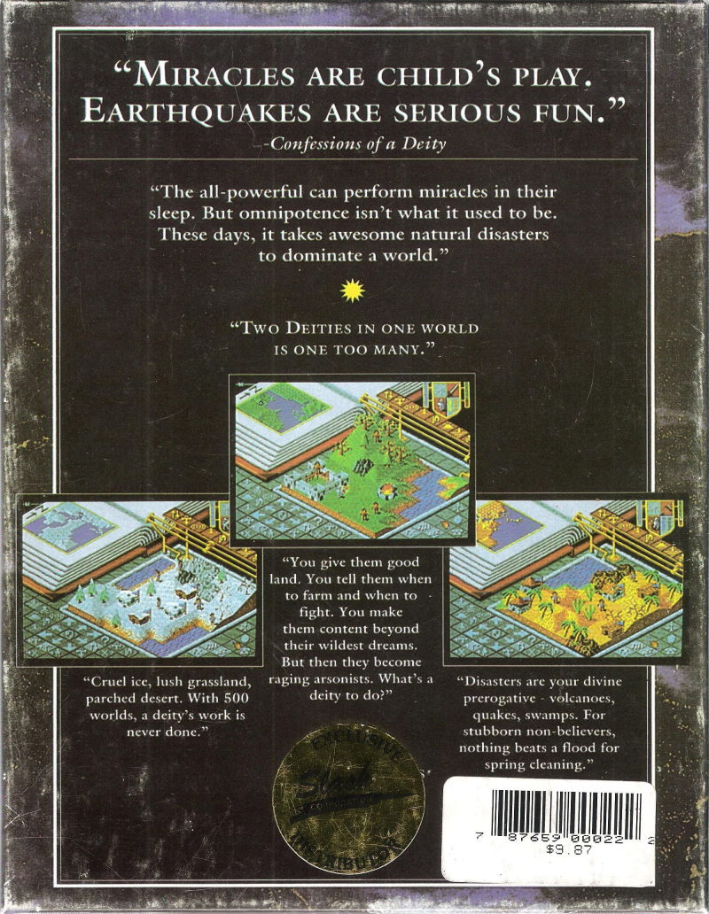 Populous DOS Back Cover
