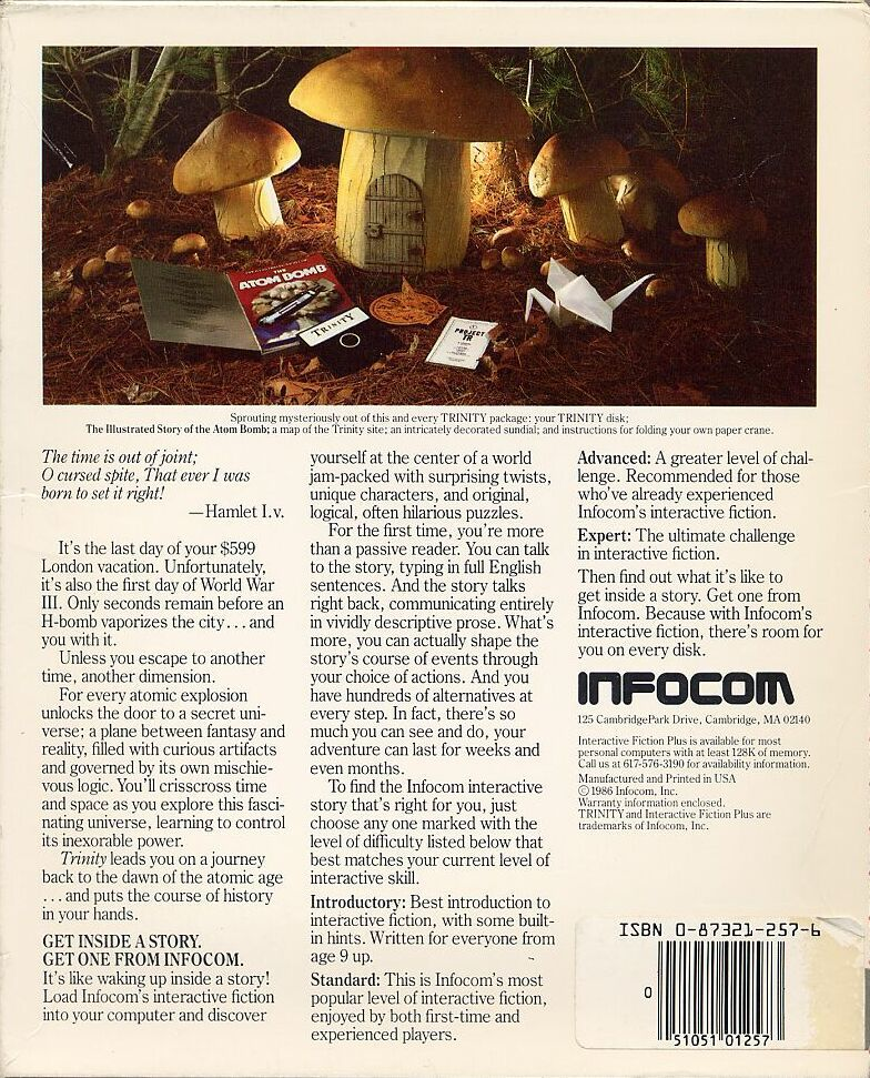 Trinity Commodore 128 Back Cover