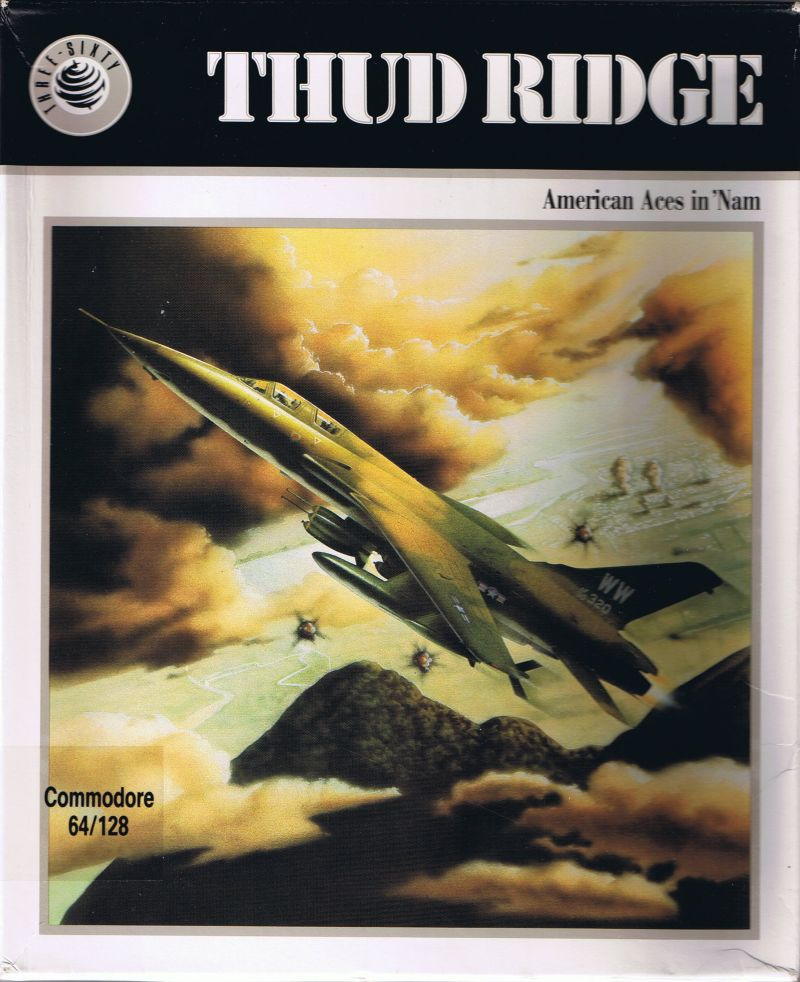 Thud Ridge: American Aces in 'Nam Commodore 64 Front Cover