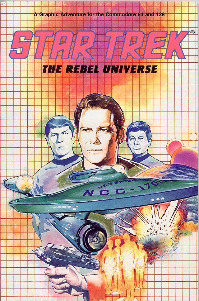 Star Trek: The Rebel Universe Commodore 64 Front Cover