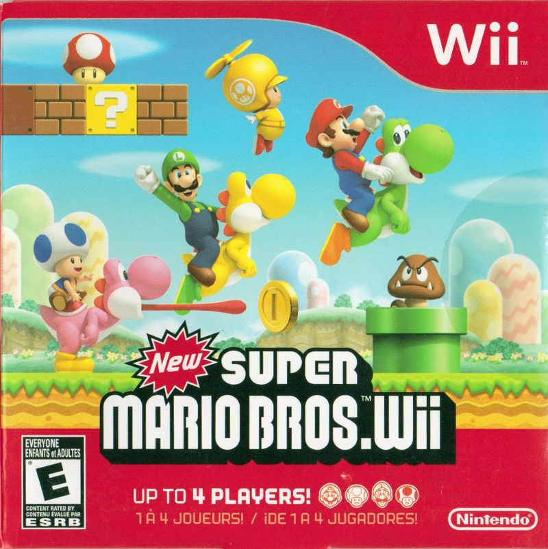 new mario bros wii 2009 wii box cover mobygames