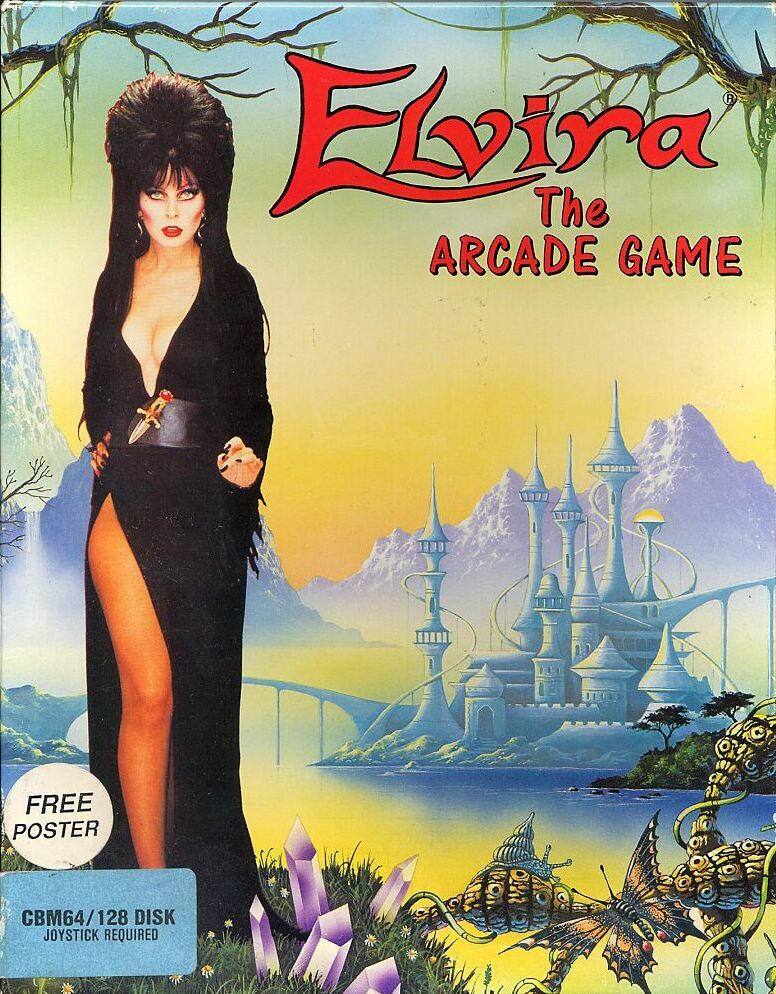 Elvira: The Arcade Game Commodore 64 Front Cover