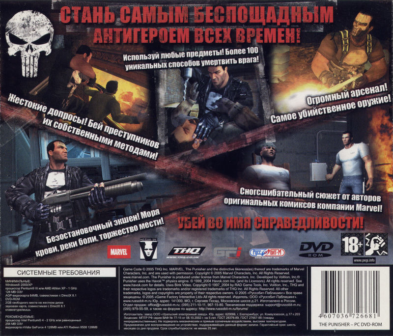 The Punisher Windows Back Cover