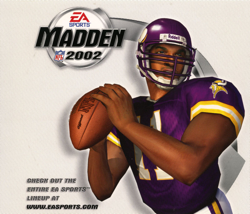 Madden NFL 2002 Windows Other Jewel Case - Right Inlay