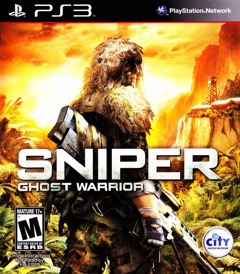 Sniper: Ghost Warrior PlayStation 3 Front Cover