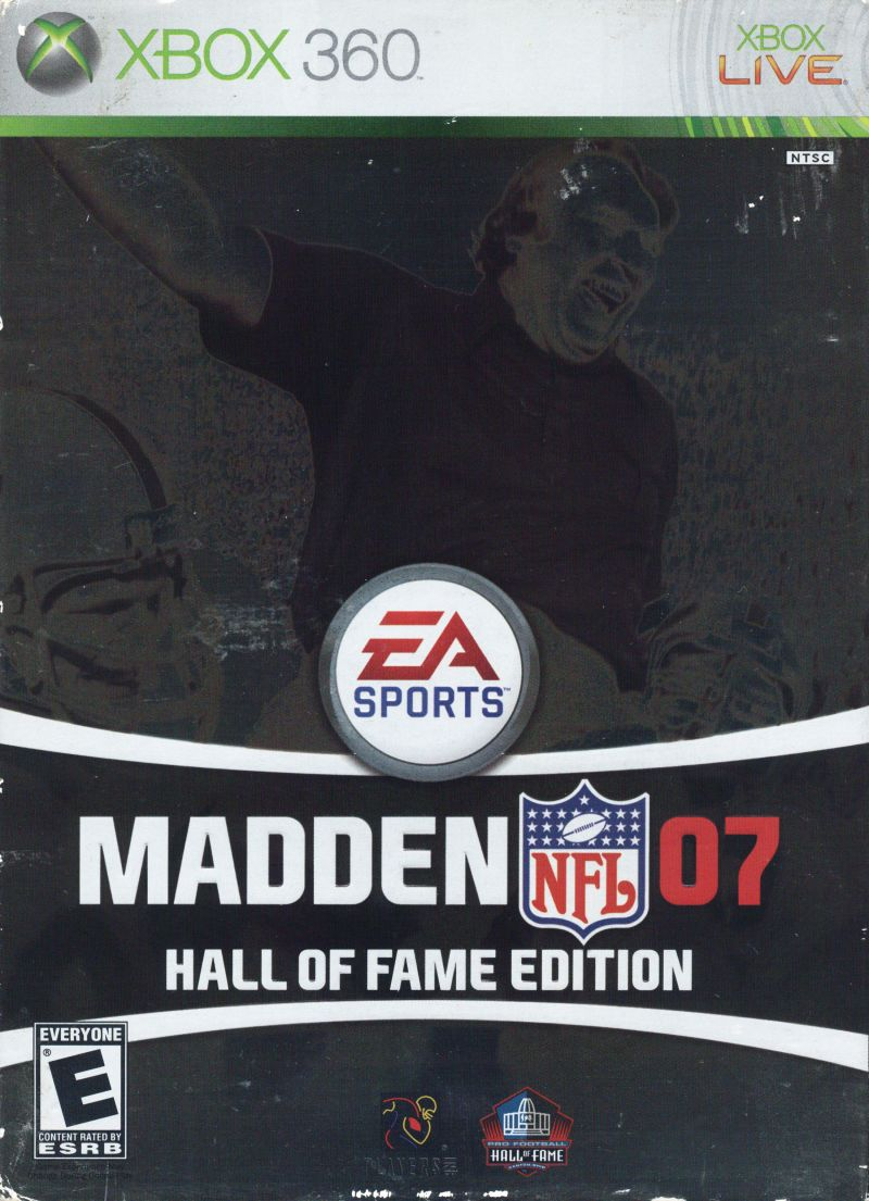 Madden NFL 07 (Hall of Fame Edition) Xbox 360 Front Cover