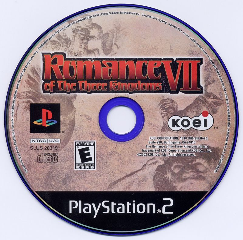 Romance of the Three Kingdoms VII PlayStation 2 Media
