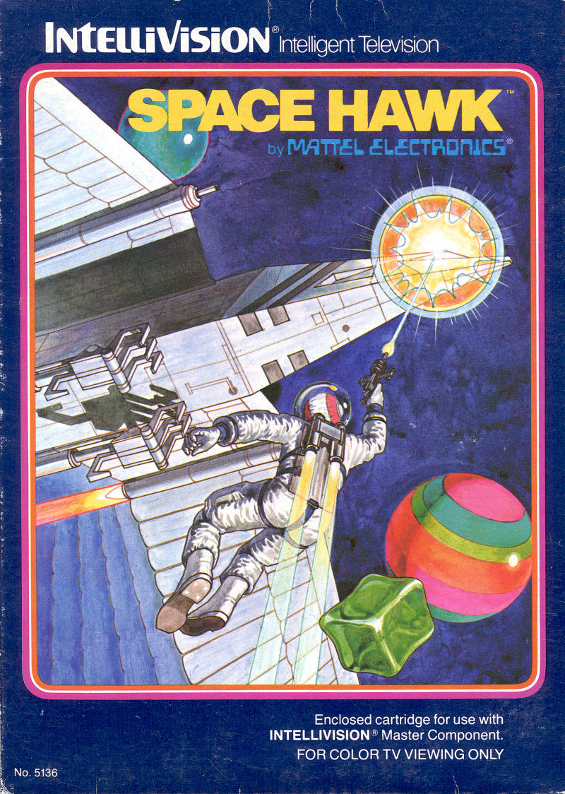 Space Hawk Intellivision Front Cover