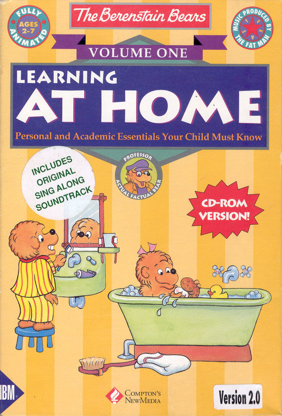 The Berenstain Bears: Volume One - Learning at Home DOS Front Cover