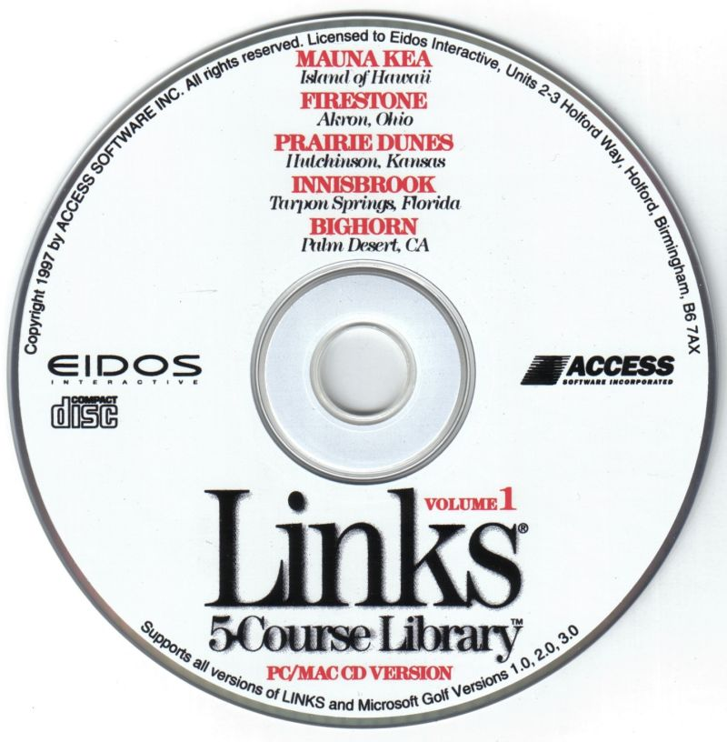 Links: 5-Course Library - Volume 1 DOS Media