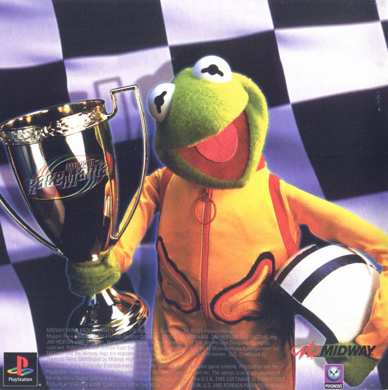 Muppet RaceMania PlayStation Inside Cover Front Reverse