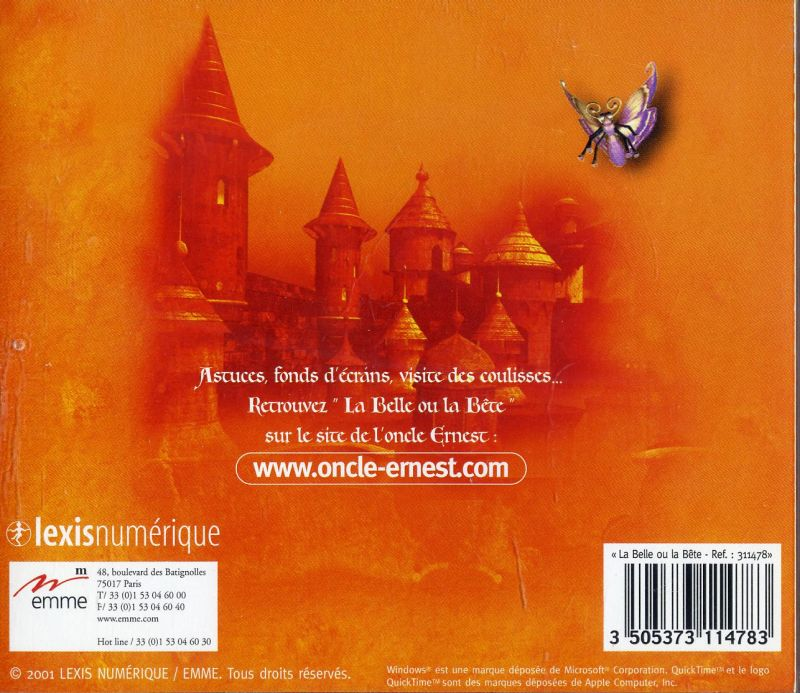 Beauty or The Beast Macintosh Back Cover