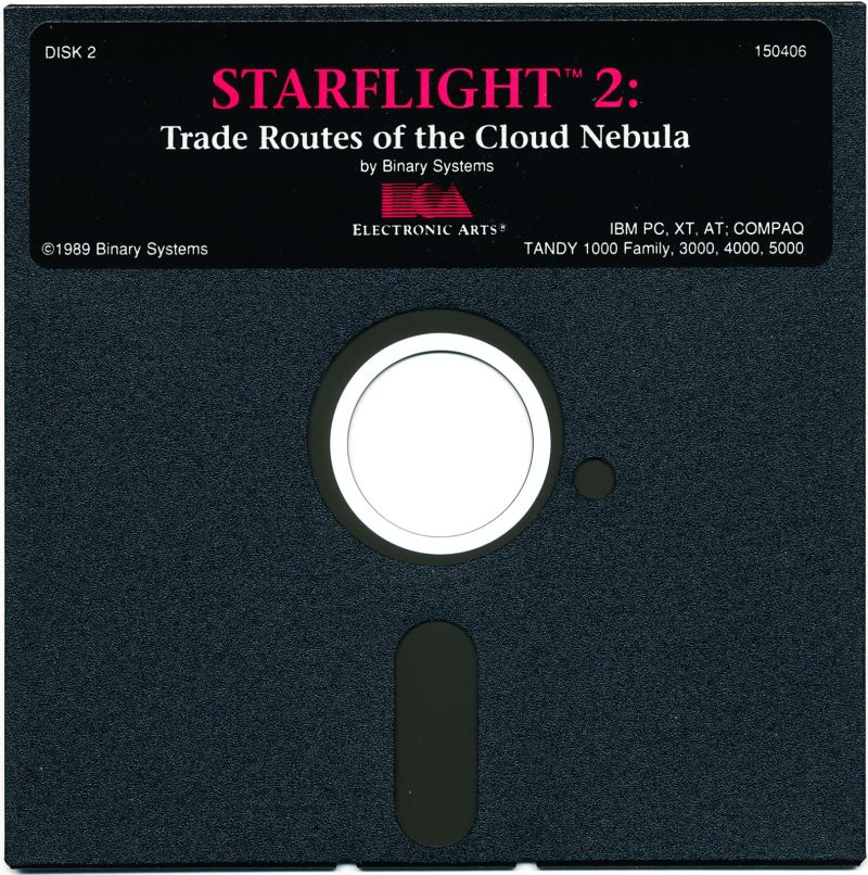 Starflight 2: Trade Routes of the Cloud Nebula DOS Media Disk 2