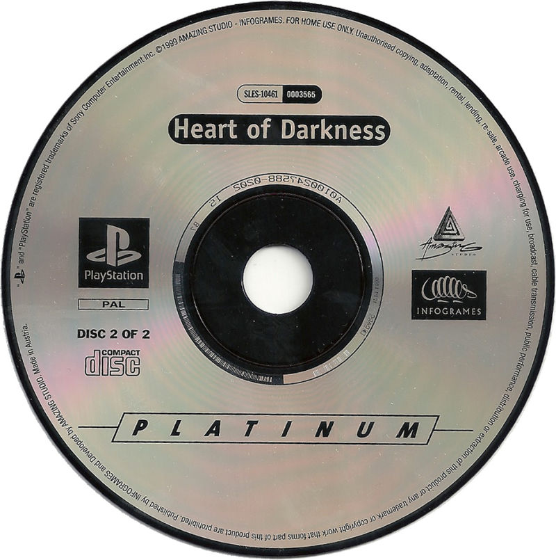Heart of Darkness PlayStation Media Disc 2 of 2