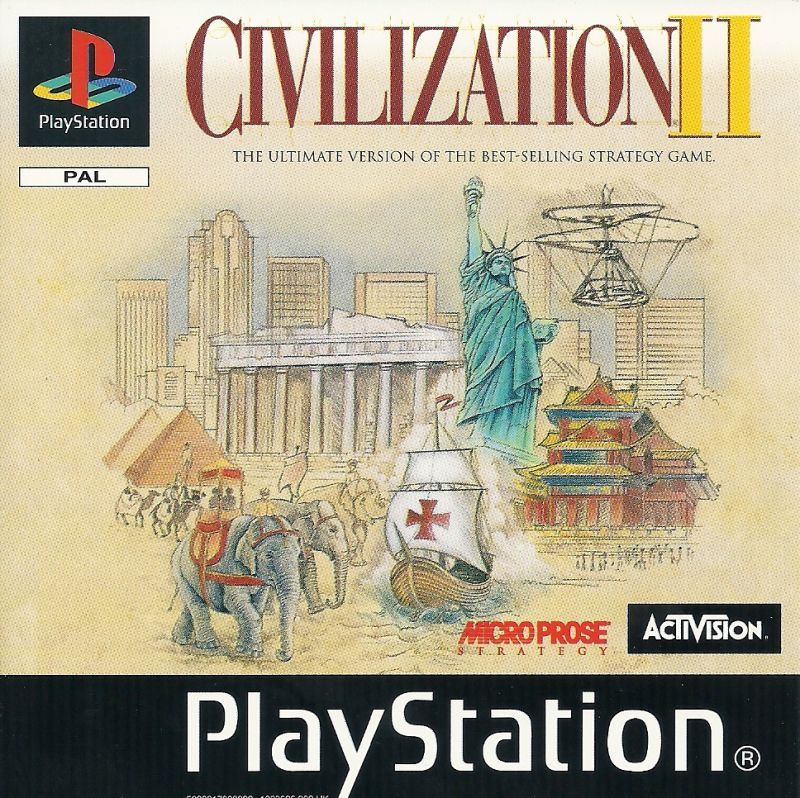 Sid Meier's Civilization II PlayStation Front Cover