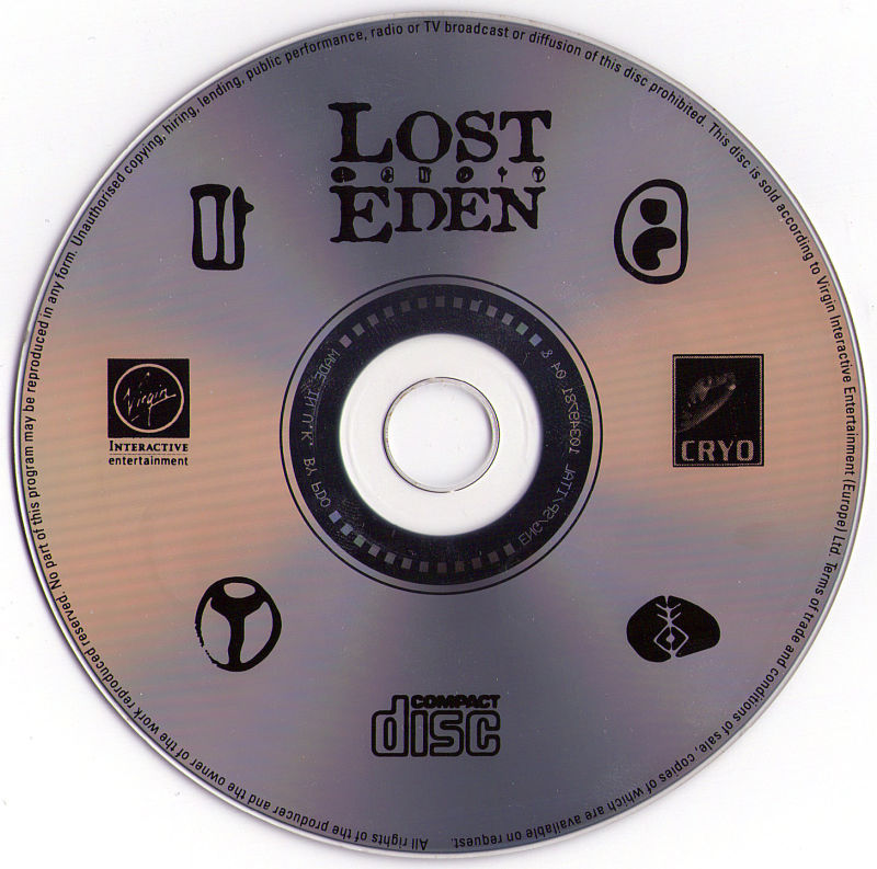 Lost Eden DOS Media