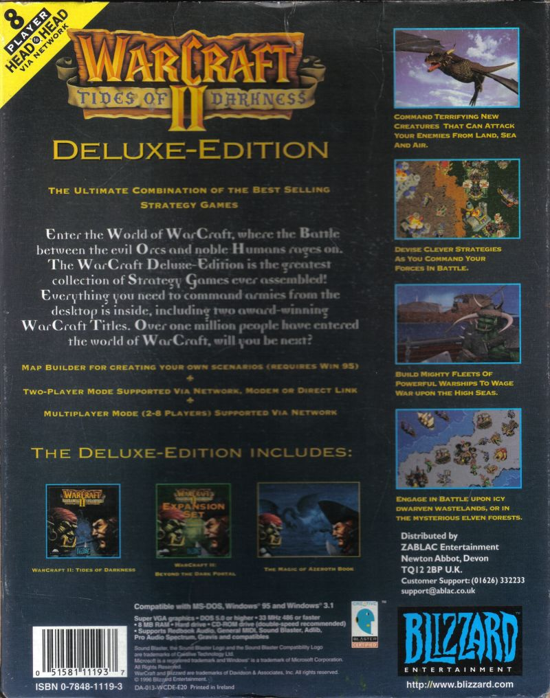 Warcraft II: Battle Chest DOS Back Cover
