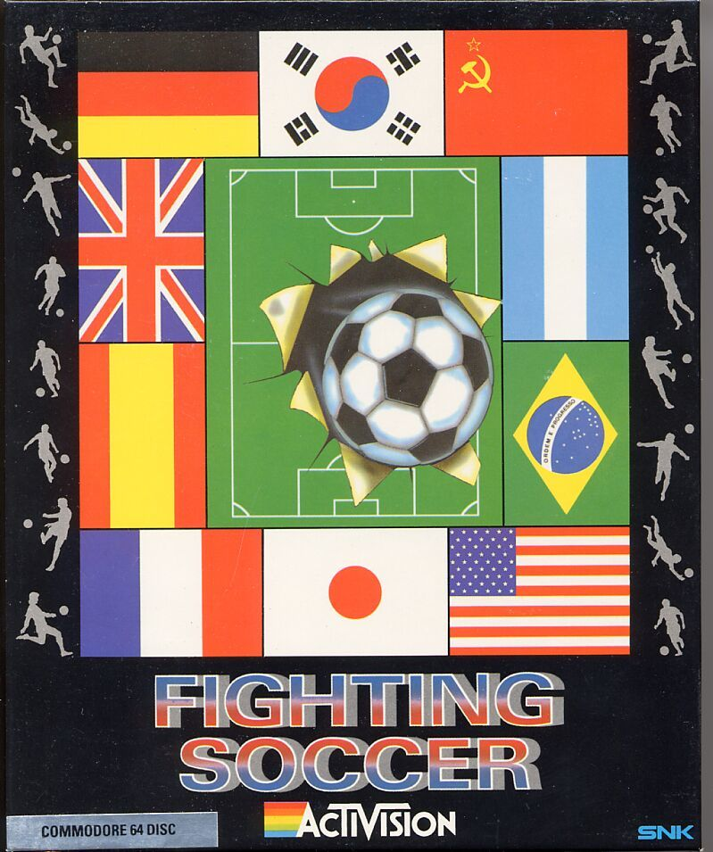 Fighting Soccer Commodore 64 Front Cover